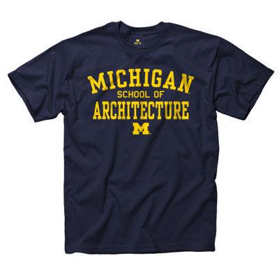 University of Michigan School of Architecture Navy Tee