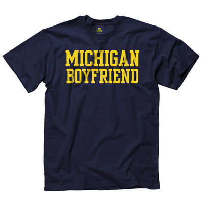 University of Michigan Boyfriend Navy Tee