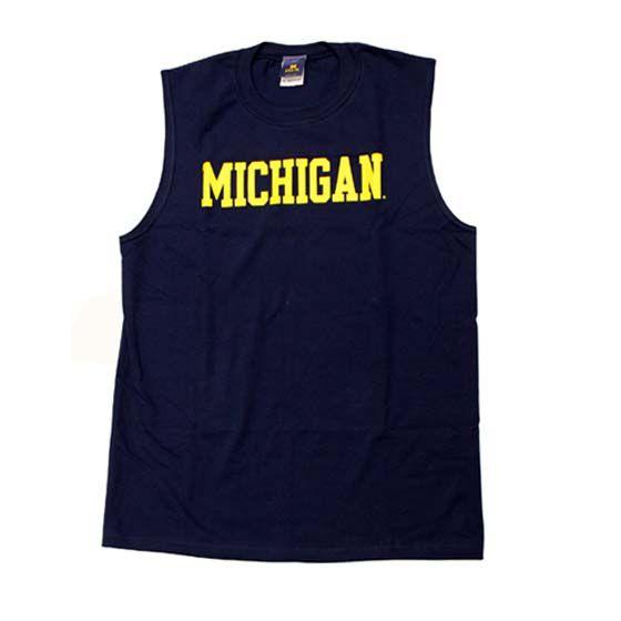 University of Michigan Navy Sleeveless Tee