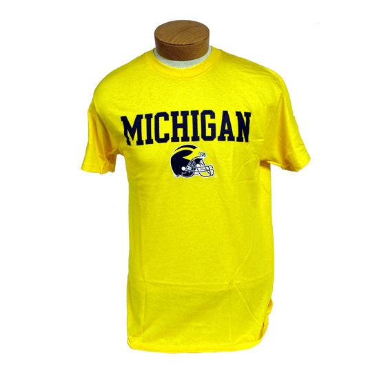 University of Michigan Football Yellow Helmet Graphic Tee