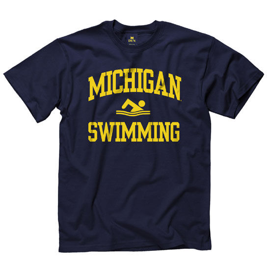 University of Michigan Swimming and Diving Navy Sport Tee