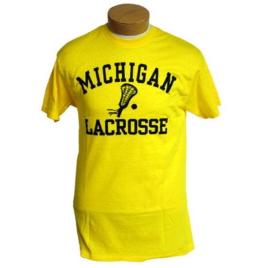University of Michigan Lacrosse Yellow Graphic Tee