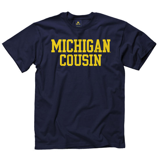 University of Michigan Cousin Navy Tee