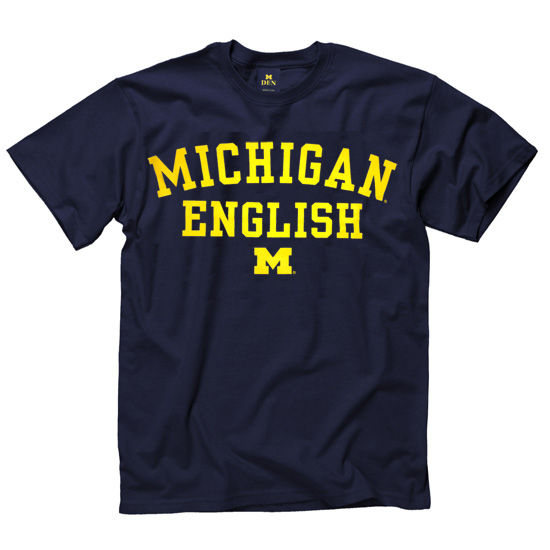 University of Michigan English School Navy Tee