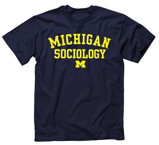 University of Michigan Sociology Navy Tee