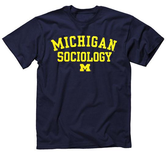 University of Michigan Sociology Navy Tee