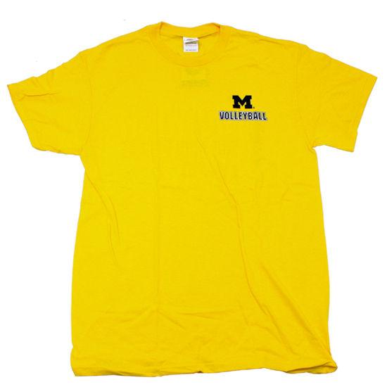 University of Michigan Volleyball Yellow ''Spike Like A Girl'' Tee