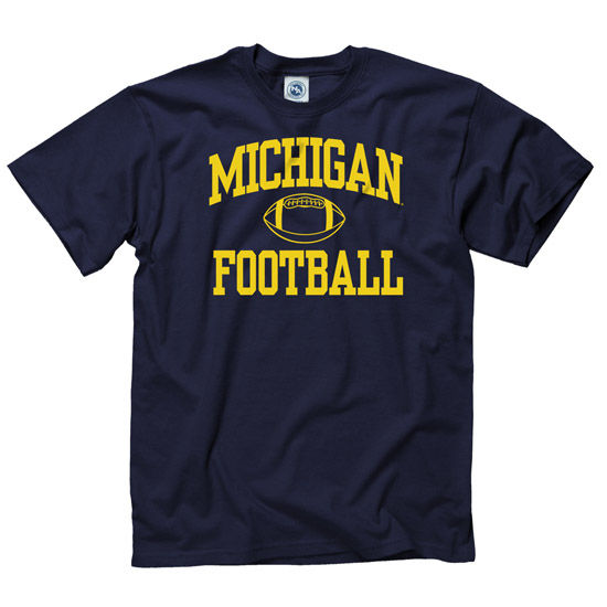 University of Michigan Football Navy Shout Tee