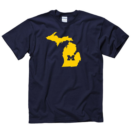 University of Michigan Navy State of Michigan Tee