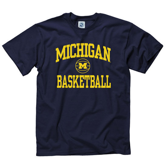 School Shooting Umich: University Of Michigan Basketball Navy Graphic Tee