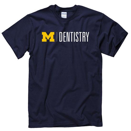 University of Michigan School of Dentistry Navy Tee
