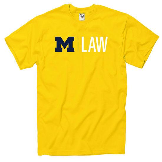 University of Michigan Law School Yellow Tee