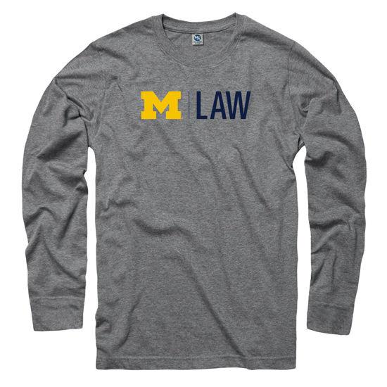 University of Michigan Law School Heather Gray Long Sleeve Tee