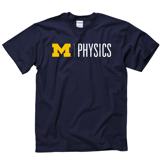 University of Michigan Physics Navy Tee