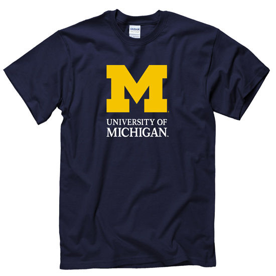 University of Michigan Signature Mark Navy Tee