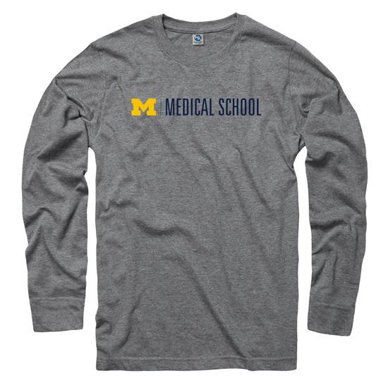 University of Michigan Medical School Gray Long Sleeve Tee
