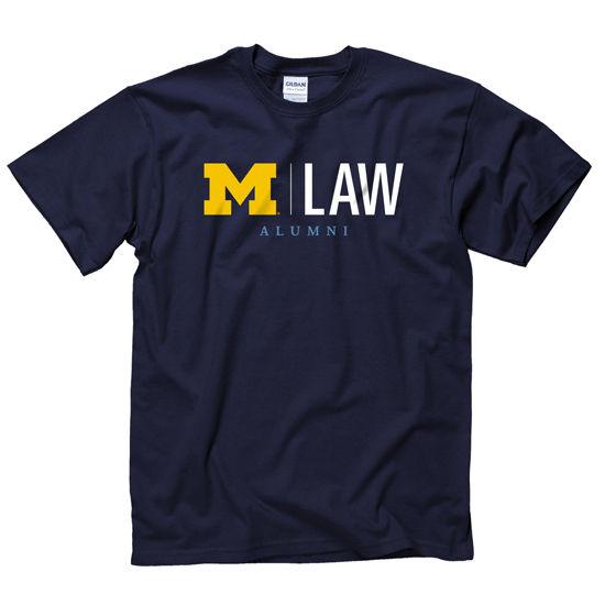 University of Michigan Law School Alumni Navy Tee