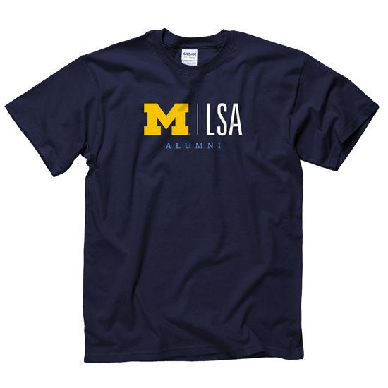 New Agenda University of Michigan L, S, & A Alumni Navy Tee