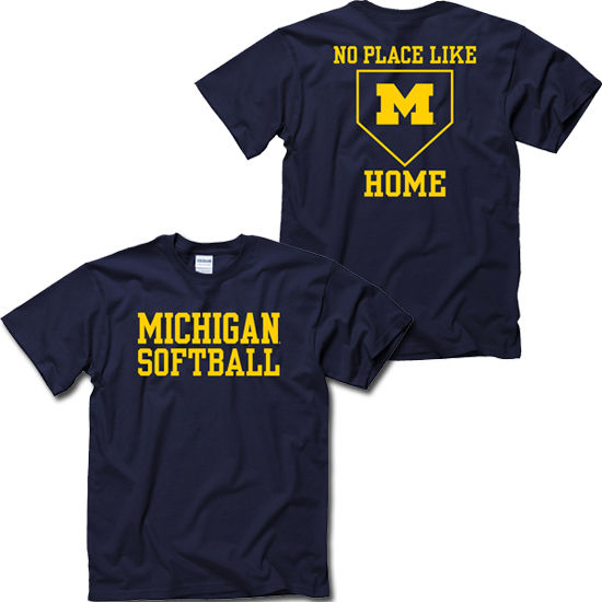 d1f8dd0f1af University of Michigan Softball   No Place Like Home   Navy Tee