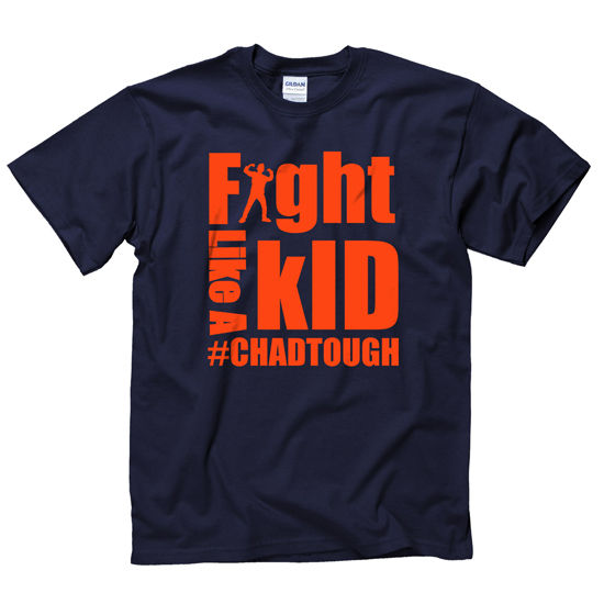 #ChadTough ''Fight Like a Kid'' Navy Tee