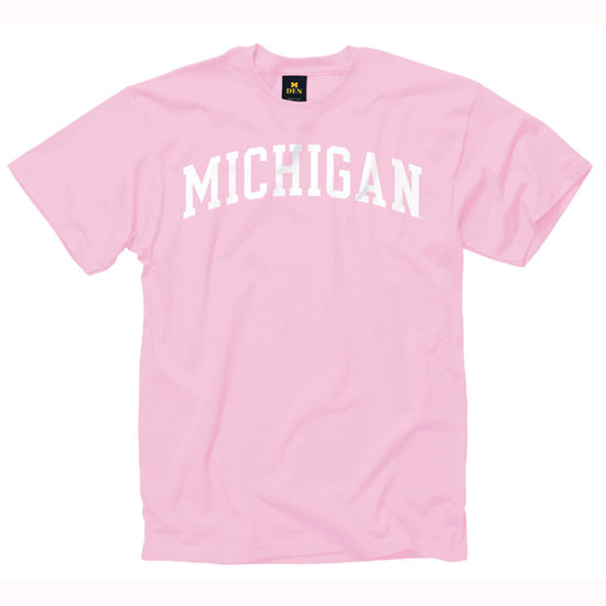 University of Michigan Youth Pink Basic Tee