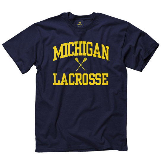 University of Michigan Lacrosse Navy Sport Tee