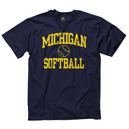 University of Michigan Softball Navy Sport Tee