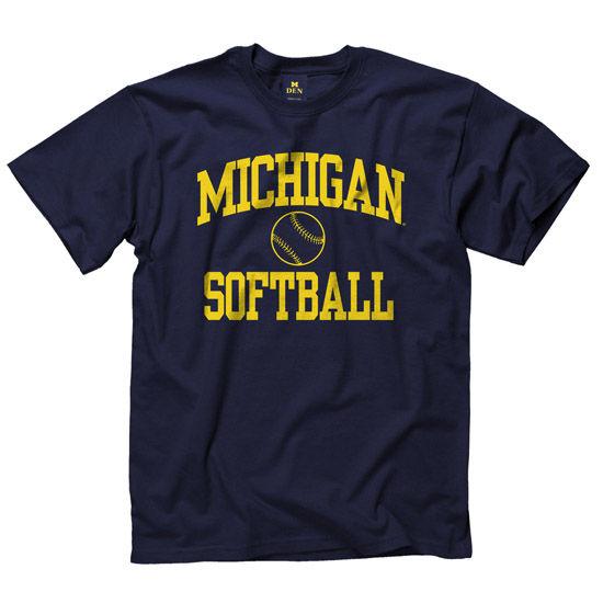 University of Michigan Softball Navy Sport Tee. Product Thumbnail Product  Thumbnail a680eae1e