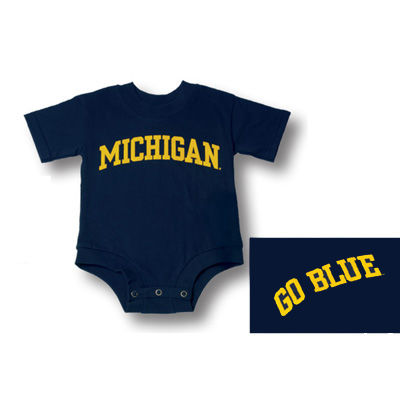 University Of Michigan Infant Navy Go Blue Onesie Bodysuit