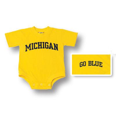 University of Michigan Yellow Bodysuit Onesie