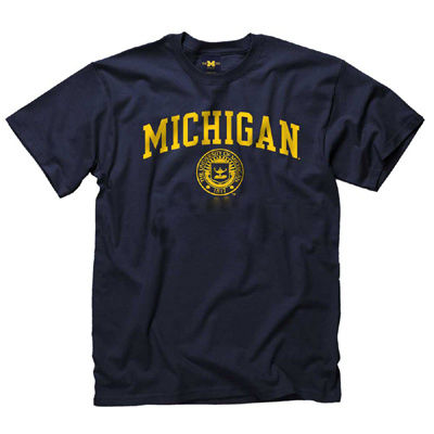 University of Michigan Navy Basic Seal Tee