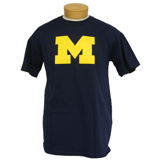 University of Michigan Navy Block M Tee