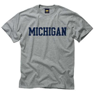 University of Michigan Gray Basic Tee