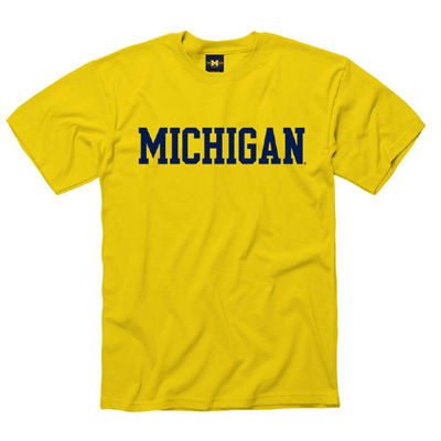 University of Michigan Yellow Basic Tee
