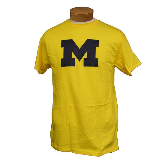 University of Michigan Yellow Block University of Michigan Yellow Block ''M'' Tee