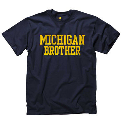 University of Michigan Navy Brother Tee