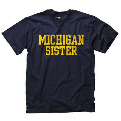 University of Michigan Sister Navy Tee