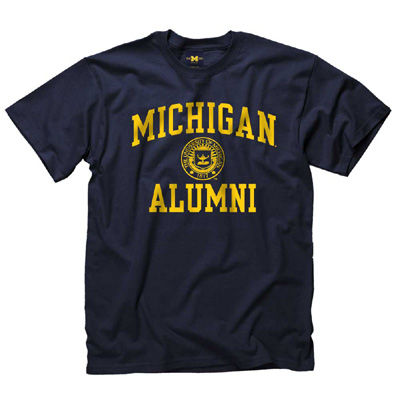 University of Michigan Alumni Navy Seal Tee