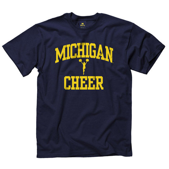 University of Michigan Cheerleading Navy Sport Tee