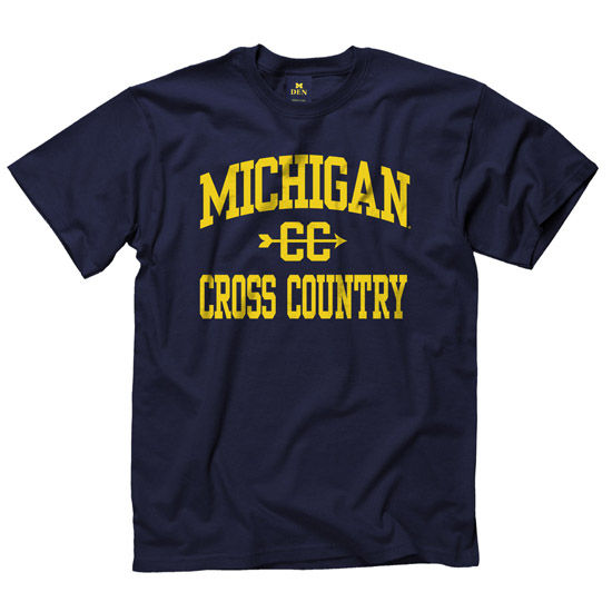 University of Michigan Cross Country Navy Sport Tee