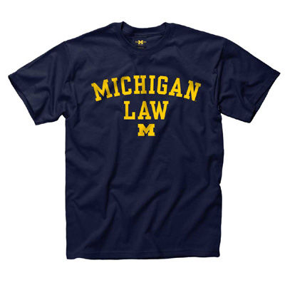University of Michigan Law School Navy Tee