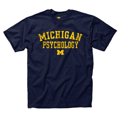 University of Michigan Psychology Navy Tee