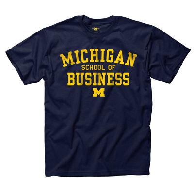 University of Michigan School of Business Navy Tee