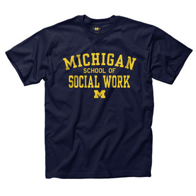 University of Michigan Social Work Navy Tee
