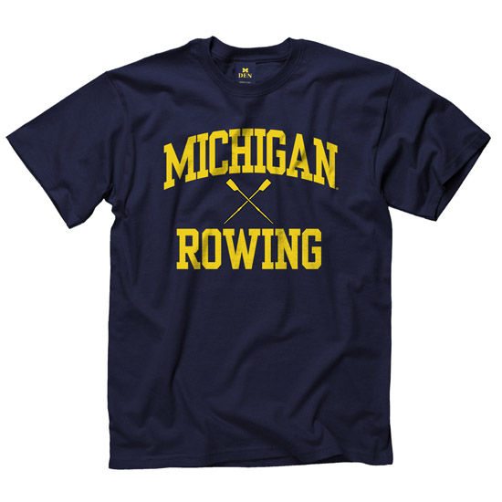 University of Michigan Rowing Navy Sport Tee