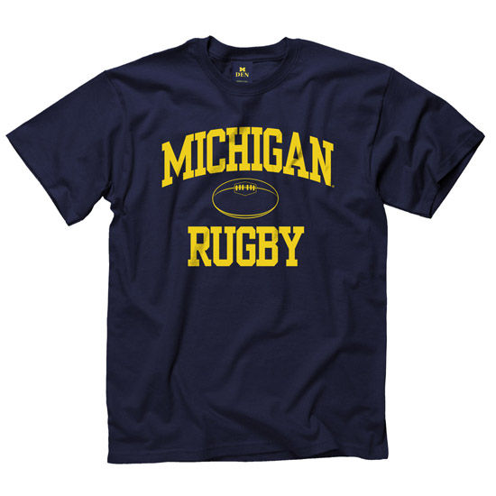 New Agenda University of Michigan Rugby Navy Sport Tee