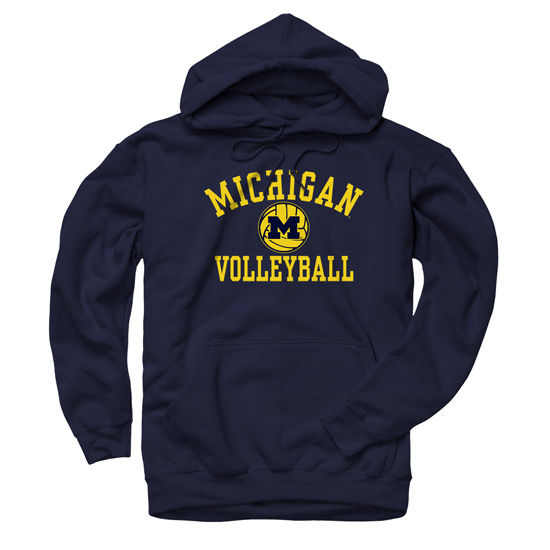 University of Michigan Volleyball Navy Hooded Sweatshirt