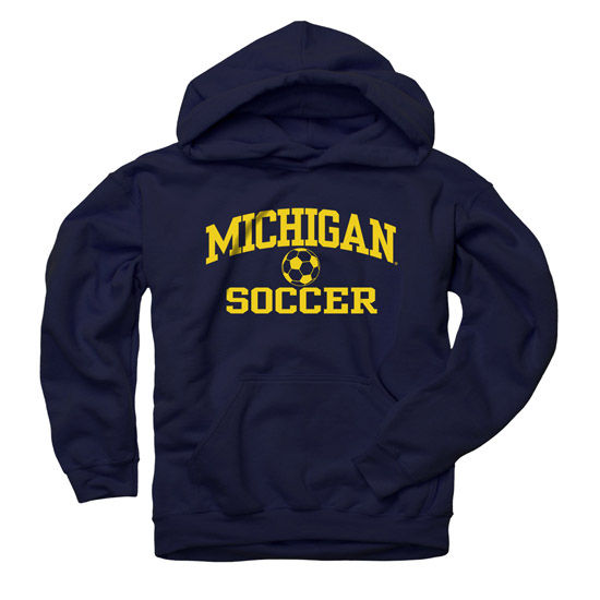 University of Michigan Soccer Navy Hooded Sweatshirt