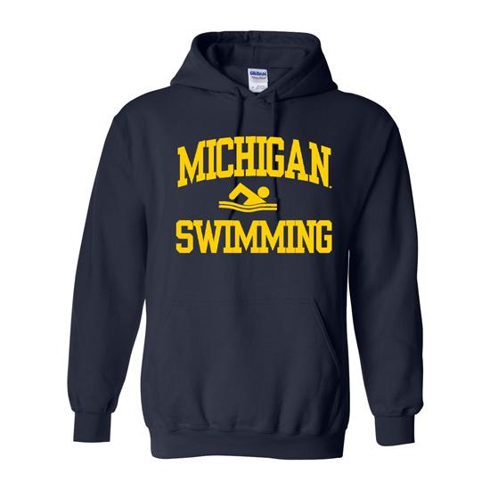 University of Michigan Swimming Navy Hooded Sweatshirt