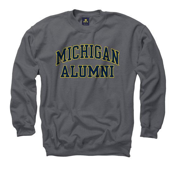 New Agenda University of Michigan Alumni Charcoal Gray Crew